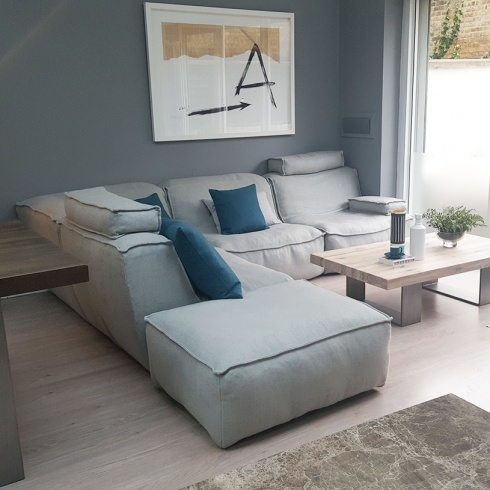 Ex-Display: Cloud Modular Corner Sofa - Light Grey Fabric
