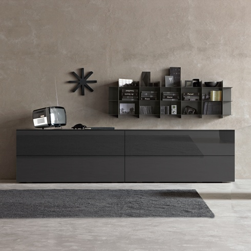 Space Sideboard, 2 Drop-down Door, 2 Drawer (SS300A) 300cm