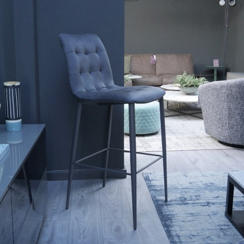 Ex-Display: Leoni High Barstool in Antracite Sweetbuk