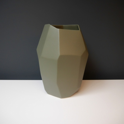 Khaki Geo Ceramic Object