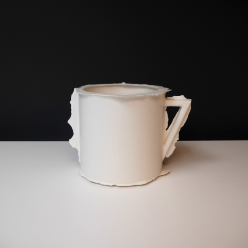 White Toby Ceramic Object