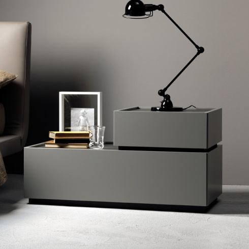 Como L-Shape 2 Drawer Bedside Table.