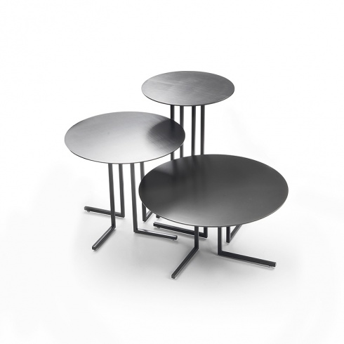 Lyric Round Metal Side Table