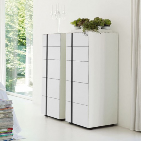 Muse 5 Drawer Tallboy. L45cm (MD111-45)
