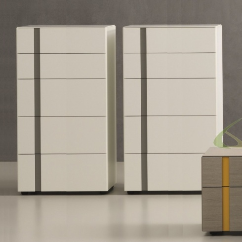 Muse 5 Drawer Tallboy. L60cm (MD111-60)