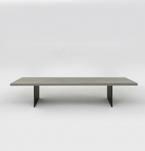 Origin Coffee Table, Solid Oak & Metal