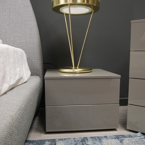 Ex-Display: Bond Bedside Table, Ardesia High Gloss (set of 2)