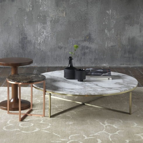 Porto round marble coffee table for Marble coffee table design