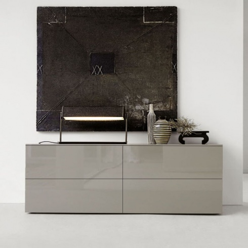 Space Sideboard, 2 Drop-Down Door, 2 Drawer (SS180A) 180cm