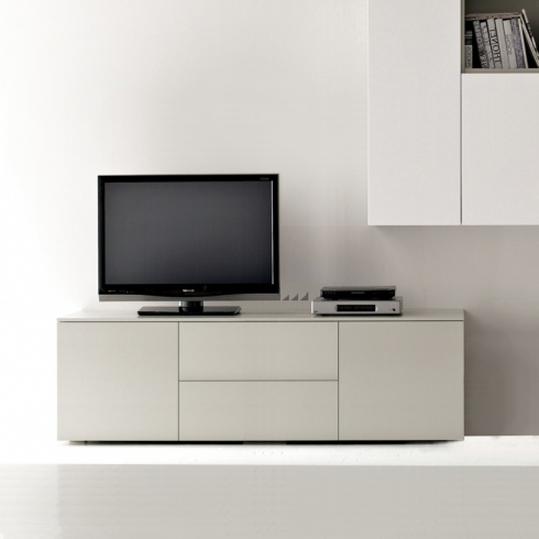 Space TV Unit, 1 Drop-Down Door, 1 Drawer, 2 Door (ST150C) 150cm