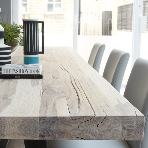 bolt industrial wood metal leg dining table and bench 2 3 jpg
