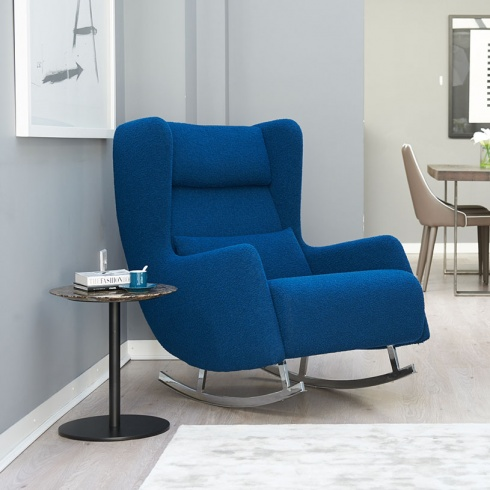 Ex-Display: Bonobo Rocking Chair in Blue Wool