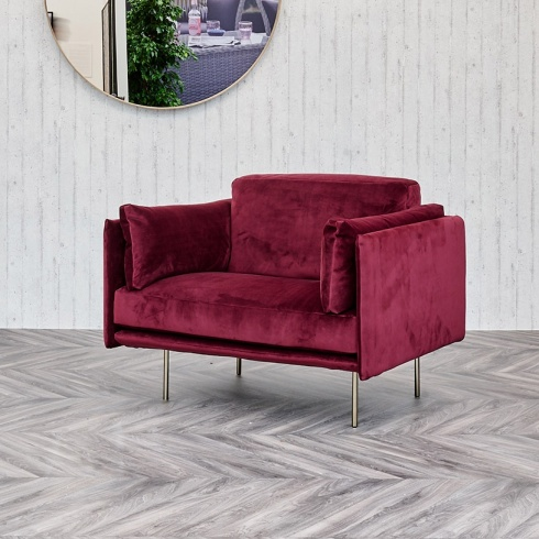 Ex-Display: Century Armchair in Merlot Classic Velvet