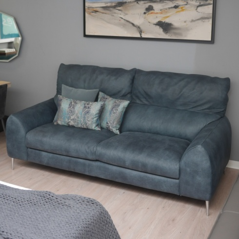 Ex-Display: Ego Italian Leather Sofa, 3 Seater