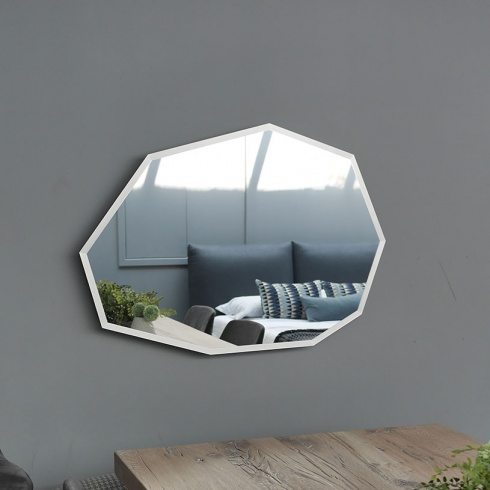 Ex-Display: Glacier Mirror with Frosted Glass Edge