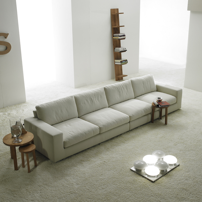 Relax Contemporary Italian Cream Fabric Sofa