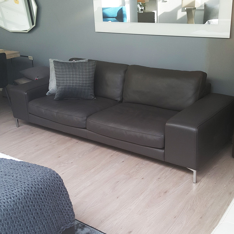 Ex Display: Bilboa Italian Leather Sofa, 3 Seater Part 18