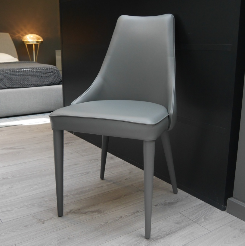 Ex display penelope dining chair in antracite leather