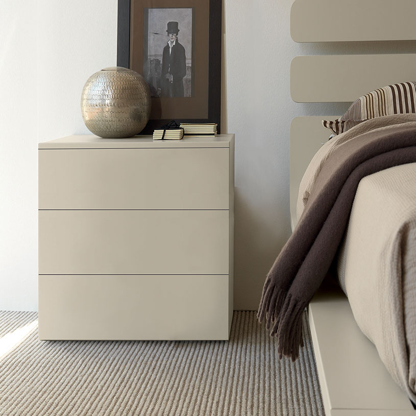Bond Cream Bedside Cabinet Gloss Or Matt