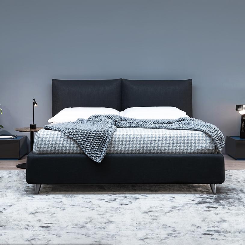 Lola Modern Grey Fabric Bed Italian