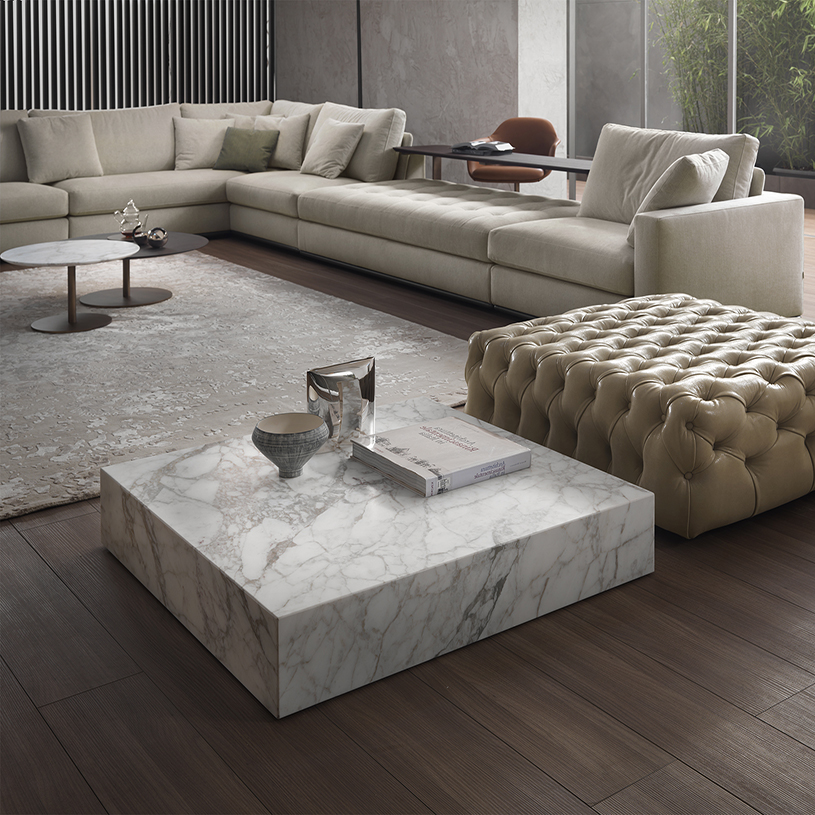 Verona Marble Coffee Table: Prince Square Marble Coffee Table, Contemporary