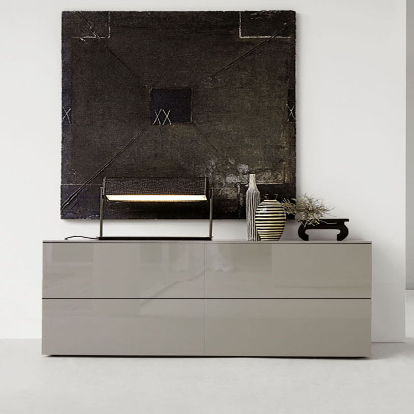space taupe high gloss sideboard 180cm. Black Bedroom Furniture Sets. Home Design Ideas