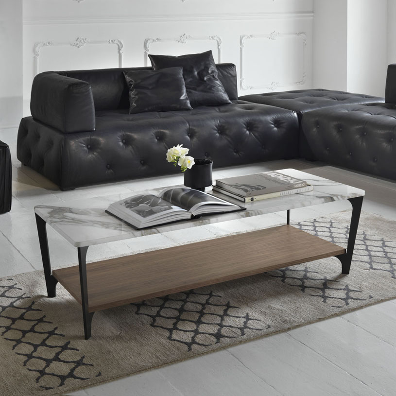 Awe Inspiring Soho Marble Walnut Italian Coffee Table Interior Design Ideas Clesiryabchikinfo