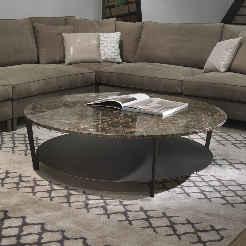 Klein Marble Coffee Table: Soho Round Marble Coffee Table & Glass