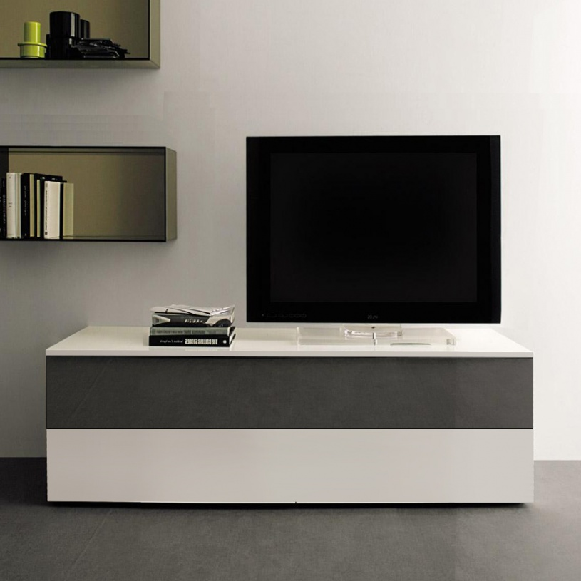 Space Small Mirrored TV Cabinet 120cm