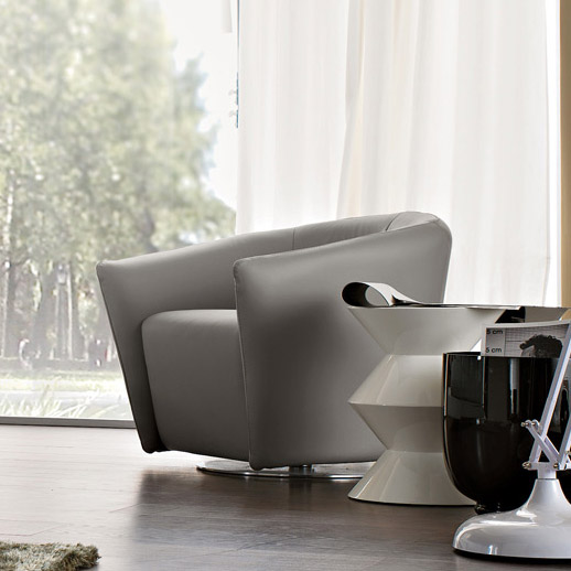 Boutique Swivel Armchair, Fabric Or Leather
