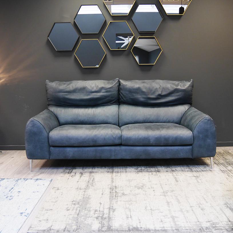 Ex Display Ego Italian Leather Sofa 3 Seater