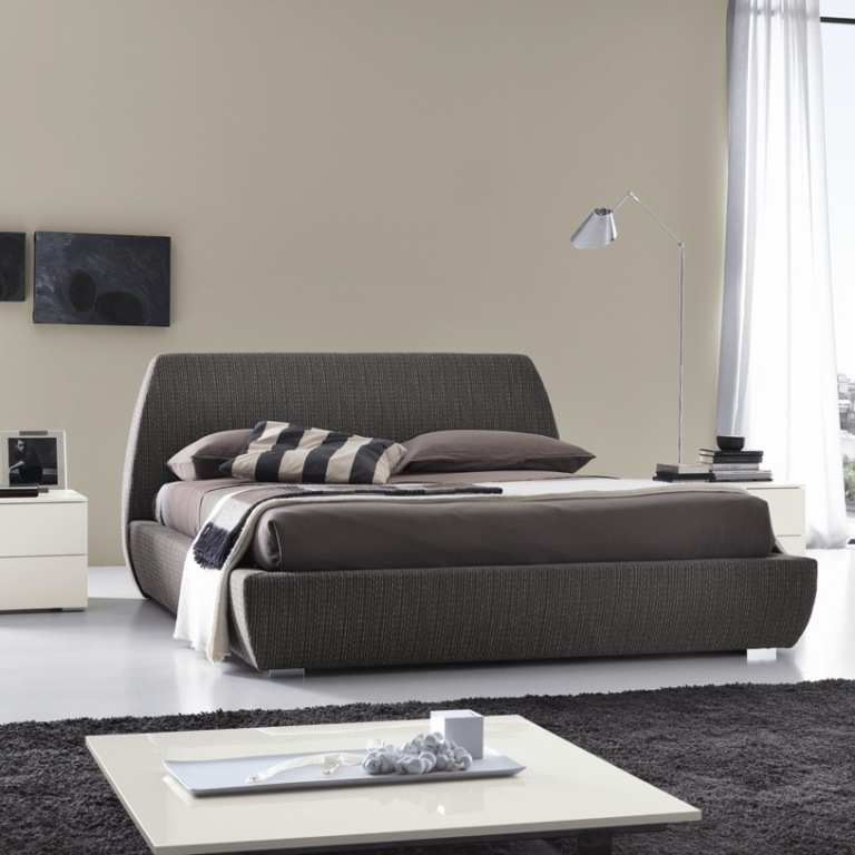 Mellow modern fabric bed optional storage for Contemporary beds
