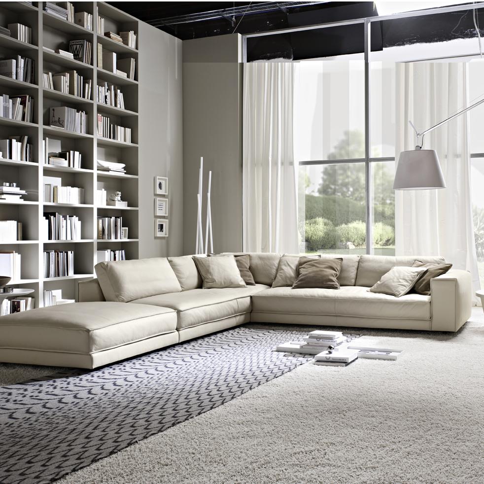 Minerale Luxury Italian Leather Corner Sofa