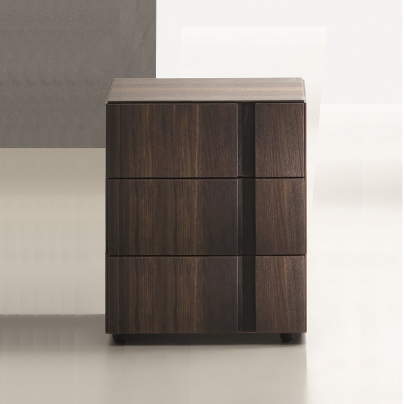 Exceptional Muse 3 Drawer Bedside Table. H53cm. (MD53)