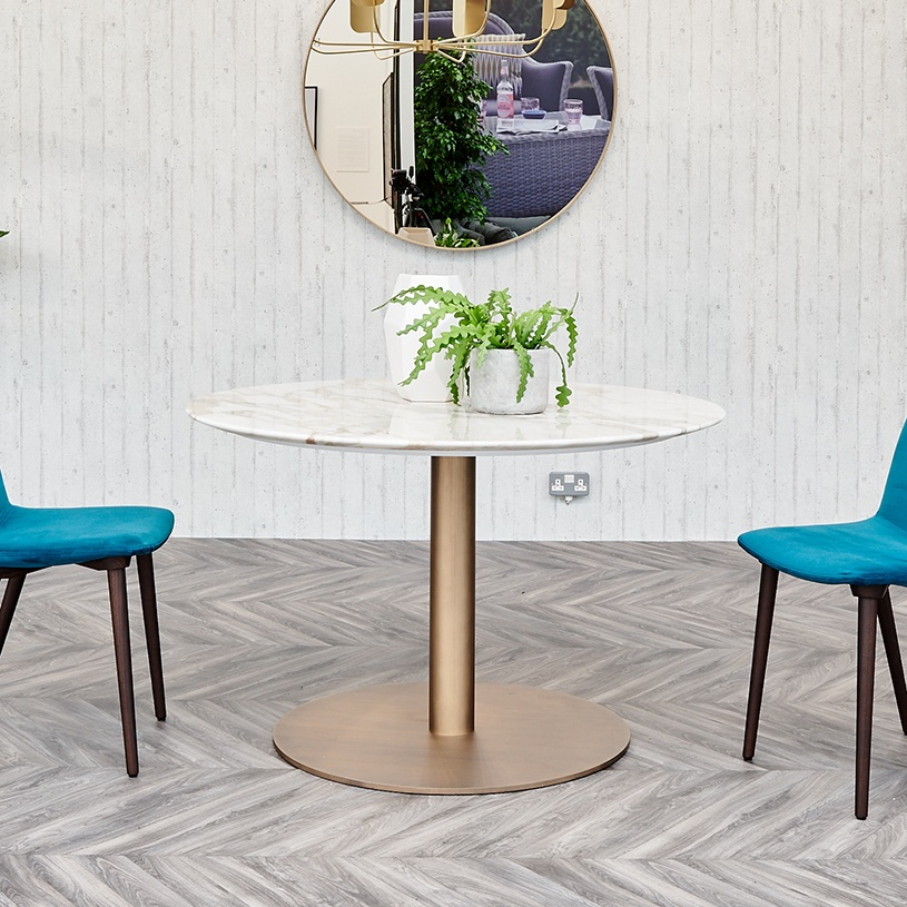 Opera Round Marble Dining Table Contemporary