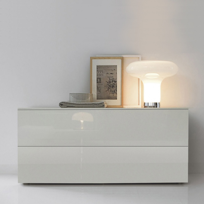 Space White Gloss Small Sideboard 150cm