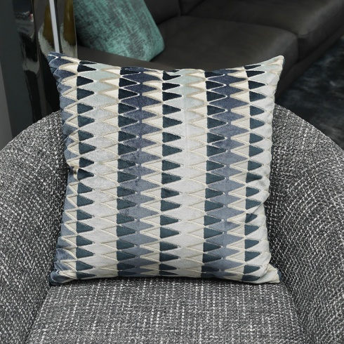 Ex-Display: 19'' x 19'' Rectangle Cushion. Lerwick Chambray Fabric