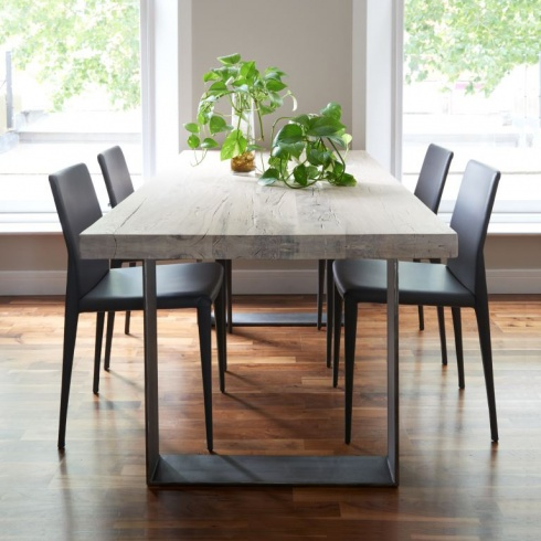 Modena Modern Wood Metal Dining Table