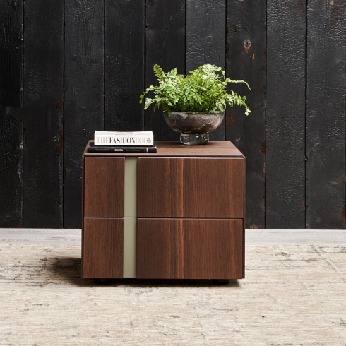Muse 2 Drawer Bedside Table. H37cm. (MD37)
