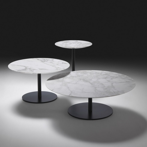 Opera Round Marble Coffee Table Contemporary
