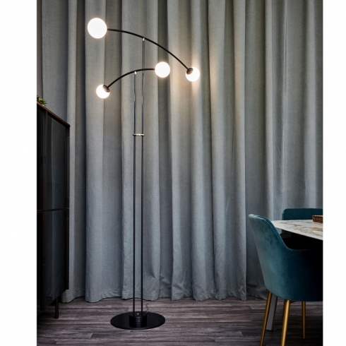 Pendulum Floor Lamp, 4 Arm