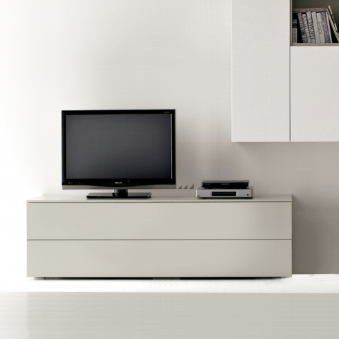 Space TV Unit, 1 Drop-Down Door, 1 Drawer (ST150A) 150cm