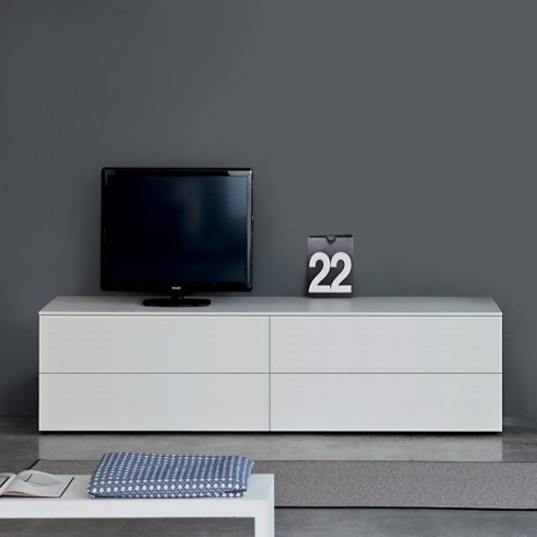 Space TV Unit, 2 Drop-Down Door, 2 Drawer (ST180A) 180cm