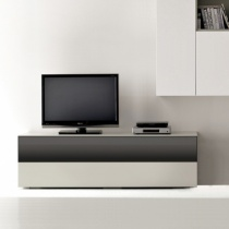 Space TV Unit, 1 Glass Drop-Down Door, 1 Drawer (ST150B) 150cm