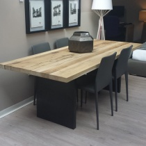 Ex-Display: Juno Solid Oak Dining Table 220x90cm
