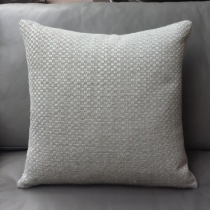 Ex-Display: 17'' x 17'' Square Cushion. Bauhaus Pearl Fabric