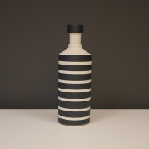 Black and White Striped Ceramic Object, H27cm