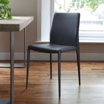 Ex-Display: Bruno Dining Chair, Antracite Ecopelle (Set of 6)