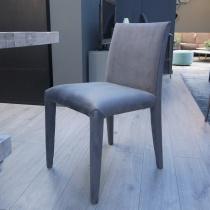Ex-Display: Nina Low Back Dining Chair, Antracite Sweetbuk (Set of 2)