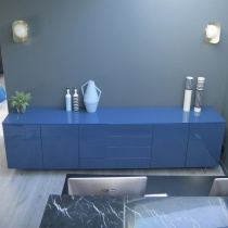 Ex-Display: Space Sideboard, High Gloss Cobalto Blue, L270cm